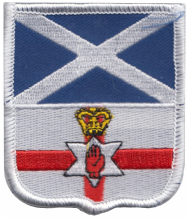 Scotland & Northern Ireland Friendship Flag Embroidered Patch A250